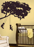 Kids on Swing Peel & Stick Giant Wall Decal Wall Decal