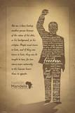 Nelson Mandela Silhouette Print