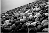 Rock Beach in Lima Peru Print