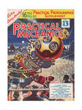 1950s UK Practical Mechanics Magazine Cover Giclee Print