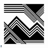 Wonder Woman: Black and White Angular Zigzag Line Design Posters