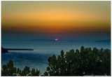 Sunset in Santorini Greece Prints