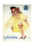 1920s France Le Sourire Magazine Cover Giclee Print