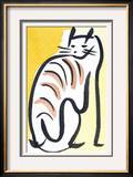Cat XIV Framed Giclee Print by Diana Ong