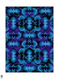Batman: Batman Blue and Purple Pattern Design with Grid Art