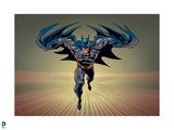 Batman: Batman Running, Straight Forward with Speed Lines Poster