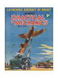 1940s UK Practical Mechanics Magazine Cover Giclee Print