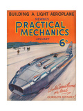 1930s UK Practical Mechanics Magazine Cover Giclee Print