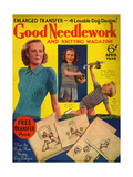 1930s UK Good Needlework and Knitting Magazine Cover Giclee Print