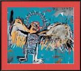 Untitled (Fallen Angel), 1981 Estampe encadrée par Jean-Michel Basquiat