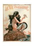 1920s France La Vie Parisienne Magazine Cover Reproduction procédé giclée