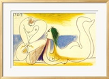 Am Strand, 1961 Poster von Pablo Picasso