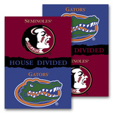 NCAA Florida - Florida St. House Divided 2-sided Banner with Pole Sleeve Flag