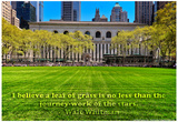 Walt Whitman Quote Bryant Park Prints