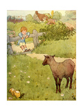 USA Baa Baa Black Sheep Book Plate Giclee Print