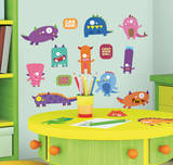 Monsters Peel & Stick Wall Decals Wall Decal