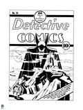 DC Originals: Batman No. 31 Old Comic Cover - Detective Comics with Batman Opposes the Monk Art