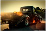 Custom Pickup at Sunset - Resim