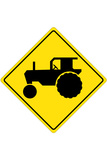 Tractor Crossing Sign Posters