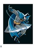 Batman: Batman Throwing a Batarangs Art