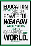Education Nelson Mandela Quote Art