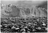 Rocky Glacier Beach Patagonia Argentina B/W Prints