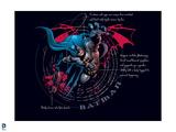 Batman: Batman Informaional Poster Design, Explaining the Outfit Prints