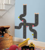 Build-A-Road Peel & Stick Wall Decals Kalkomania ścienna