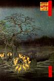 Utagawa Hiroshige Fire Foxes Poster Photo