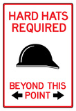 Hard Hats Required Past This Point Sign Poster Posters
