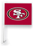 NFL San Francisco 49Ers Car Flag with Wall Brackett Flag