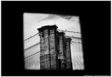 Brooklyn Bridge from Dumbo B/W Print