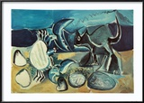 Cat and Crab on the Beach, 1965 Poster von Pablo Picasso