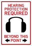 Hearing Protection Required Past This Point Sign Poster Photo
