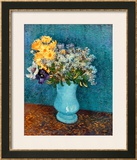 Vase of Lilacs, Daisies and Anemones, c.1887 Framed Giclee Print by Vincent van Gogh
