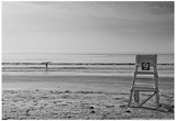 Lone Surfer Newport Rhode Island B/W Prints