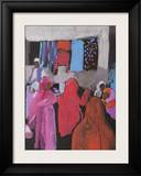 Market Kerven Framed Giclee Print by Victoria Threlfall