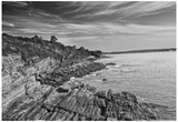 Cliff Walk Newport Rhode Island B/W Photo