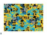 Batman: Bright Batman Pattern with Type and Symbols Prints