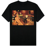 Vincent Van Gogh Night Cafe with Pool Table T-shirts