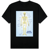 Human Skeleton Anatomy Anatomical Chart T-shirts