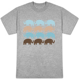Brown Elephant Family T-shirts