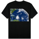 Three Storms From Space Hurrican Irene Photo T-shirts
