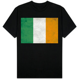 Ireland Flag Distressed T-Shirt
