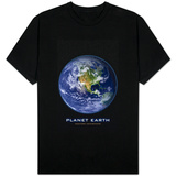 Planet Earth Western Hemisphere T-Shirt
