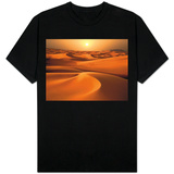 Intense Sun over sand dunes around Dubai T-shirts