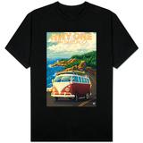 San Simeon, CA - VW Van Coastal Drive T-Shirt