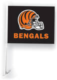 NFL Cincinnati Bengals Car Flag with Wall Brackett Flag