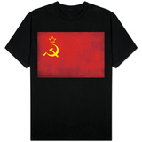 Soviet Flag Distressed Shirt