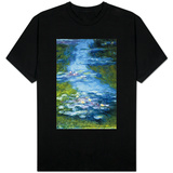 Claude Monet Water Lilies in Pond T-Shirt